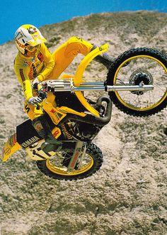 Rick Johnson on his 1984 Yamaha YZ250