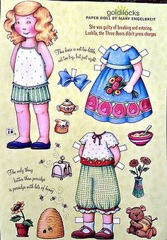 MARY-ENGELBREIT-Mag-Paper-Doll-Goldilocks-April-May-2008-Uncut