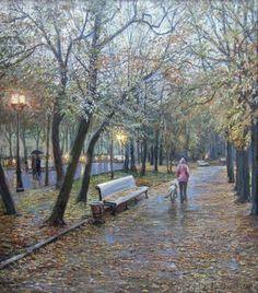 Лукьянов Виктор Евгеньевич   Дождь на Страстном бульваре