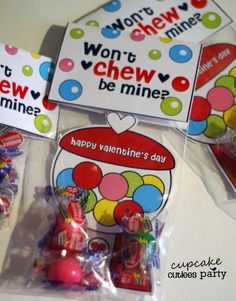 Cupcake Cutiees: Gumball Love Combo Valentine DIY card - Party Store
