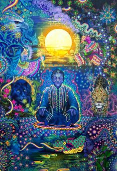 Paintings of Alfredo Zagaceta, which participated in many collective art exhibitions in Peru, The United States, Europe and Japan. Meditation, Religion, Psy Art, Hippie Art, Visionary Art, Sacred Art, Magic Carpet, Psychedelic Art, Painting Inspiration