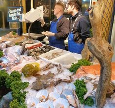 Fish in Borough Market, London
