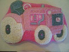 Pink John Deere cake