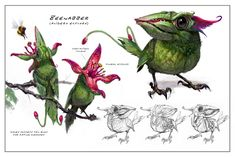 Beenabber _ creature concept art _ by Chad Weatherford Monster Concept Art, Alien Concept Art, Concept Art World, Creature Concept Art, Fantasy Monster, Creature Design, Mythical Creatures Art, Alien Creatures, Fantasy Beasts