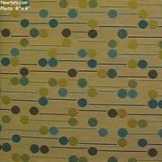 "9 4/8 Yard Remnant of ""Jam Session - Moon Glow"" Line and Dot Fabric for Upholstery from CF Stinson Inc"