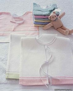 Towel Bib, infant/toddler, f/land, embroider the child's initial