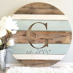 Handcrafted modern rustic home decor and personalized monogrammed round wooden home decor plaques. Hand selected gift ideas for the special occasions in your life including rustic wall art decor, primitive decor, wooden home decor, and wooden rounds!