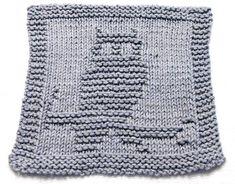 Baby Knitting Patterns Dishcloth Knit Fabric Pattern Squirrel PDF by ezcareknits on Etsy Owl Knitting Pattern, Dishcloth Knitting Patterns, Knit Dishcloth, Crochet Patterns, How To Purl Knit, Knit Purl, Knitted Washcloths, Owl Patterns, Knitting Needles