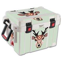 MightySkins Protective Vinyl Skin Decal for Pelican 35 qt Cooler wrap cover sticker skins Aztec Deer *** For more information, visit image link.(This is an Amazon affiliate link and I receive a commission for the sales)