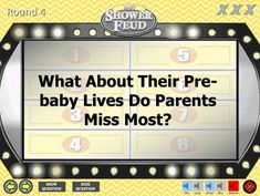 Baby Shower Game - Family Feud - Gender Neutral Unisex Trivia Powerpoint Game - Mac and PC Compatible - Shower Feud - Fun Baby Shower Games - New Baby Boys, Baby Family, Family Games, Games For Kids, Baby Shower Questions, Meeting Games, Gender Neutral Names, Powerpoint Games, Fun Baby Shower Games