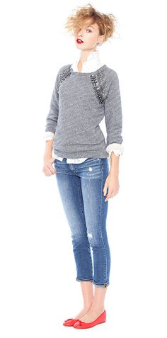 Love dressy sweatshirts!