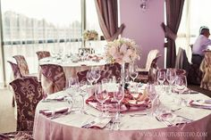 The decoration of the guest's tables