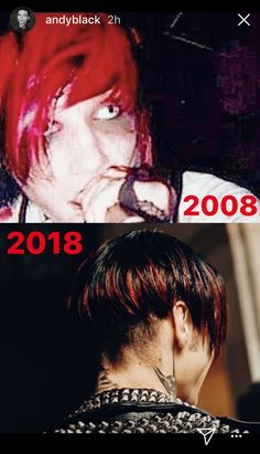 Andy Biersack red hair
