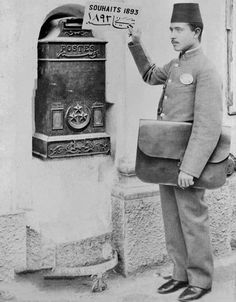 Postman in Cairo, Egypt, 1893 Kahire'de Postacı, Mısır, . Old Egypt, Egypt Art, Cairo Egypt, Ancient Egypt, Vintage Pictures, Old Pictures, Old Photos, Alexandria Egypt, Templer