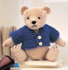 Free knitted teddy knitting pattern :: Free soft toy knitting pattern :: allaboutyou.com