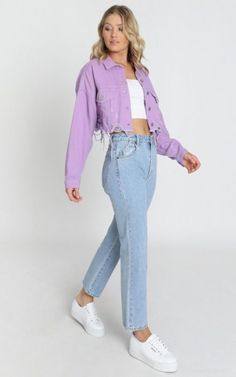 Lila Outfits, Purple Outfits, Teen Fashion Outfits, Colourful Outfits, Mode Outfits, Cute Casual Outfits, Outfits For Teens, Look Fashion, Summer Outfits