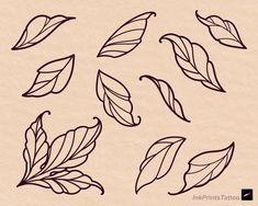 Flower Tattoo Drawings, Flower Tattoo Designs, Tattoo Sketches, Flower Tattoo Stencils, Drawing Tattoos, Traditional Tattoo Leaves, Traditional Tattoo Tutorial, Traditional Flower Tattoos, Tropical Flower Tattoos