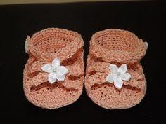 Crochet Sandalias Para Bebe' - YouTube