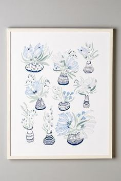 Lulie Wallace Bouquets En Vase Print #anthroregistry
