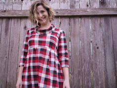 Buffalo Plaid Laurel Dress | Textillia | Online sewing community and database