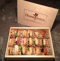 pine boxes as catering platters