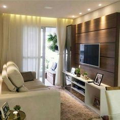 Best 50 TV Room Ideas for Your Home and Remodel - Home of Pondo - Home Design Tv Wall Design, Bed Design, House Design, Hall Interior, Interior Design Living Room, Home Living Room, Living Room Decor, Half Bathroom Decor, Modern Tv Wall Units