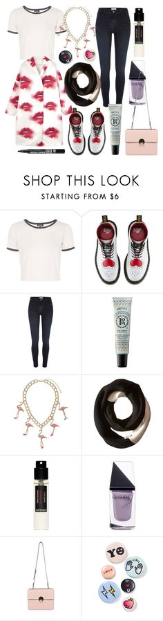 """""""try to change"""" by nothingisnormal ❤ liked on Polyvore featuring Topshop, Dr. Martens, River Island, Rosebud Perfume Co., SOREL, Frédéric Malle, GUiSHEM, Vivienne Westwood, Bing Bang and Bourjois"""