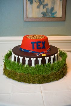 Fun Grooms cake- Dog bowl