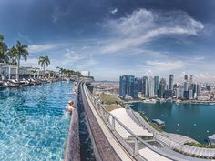 Stare out at Singapore's skyline while taking a dip in the incredible 57-story-high infinity pool at the Marina Bay Sands hotel.