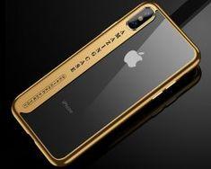 Silikónový transparentný kryt pre iPhone X so zlatými okrajmi . Mobiles, Apple Iphone, Mobile Phones