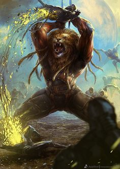 Lion Warrior. Stunning Concept Art by Bjorn Hurri