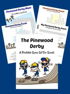 Grab your FREE Pinewood Derby printable activities sheets! These are perfect for keeping Cub Scouts (and siblings) entertained during your race. It includes two crossword puzzles (one for younger kids and one for older kids), a maze, and a cryptogram--all related to the Pinewood Derby! #CubScout #CubScouts #PinewoodDerby #CubScoutIdeas