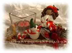 Portacandela/ https://it.pinterest.com/pin/783978247603765600/ doll in pasta di mais /Porcelana fria/ Das/ Bomboniere/Articoli regalo/Cold porcelain/Bamboline in pasta di mais/Polymer clay/Natale/Christmas/Pasta di mais/Oggetti fai da te/doll in pasta di mais/angeli