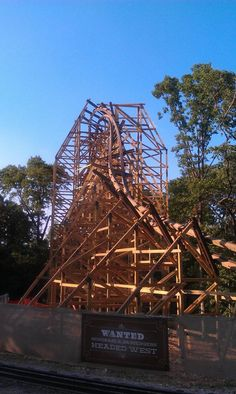 Outlaw Run- Silver Dollar City, Branson, Missouri. Almost done! Can't wait to ride it!!