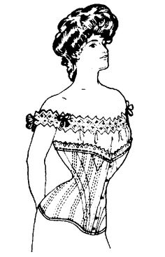 "Past Patterns ""Straight-Fronted"" Edwardian Corset pattern"