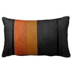 Modern Colorblock Leather Look Lumbar Pillow by SusanG6 #pillow #homedecor #decorpillows