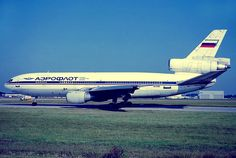 Rare Aeroflot Russian Airlines McDonnell-Douglas DC-10-30 (registered N524MD)