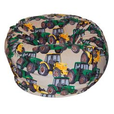 Ahh Products Anti-Pill Tractors Fleece Washable Bean Bag Chair