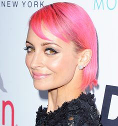 Nicole Richie debuted a bubblegum pink bob haircut and bangs at the Fashion Los Angeles Awards at the Sunset Tower Hotel in West Hollywood on Thursday, Dec. 22.