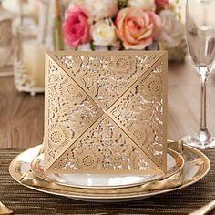 smukke flora design bryllup invitation-sæt af 50 (flere farver) – DKK kr. 211