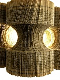 recycled paper lamp