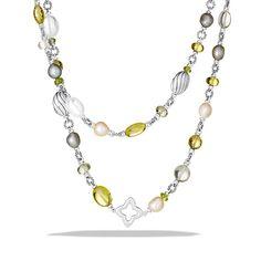 David Yurman: Bead Necklace with Lemon Citrine and Pearls $2,300