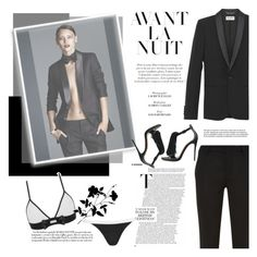 """""""Make it simple but significant"""" by naki14 ❤ liked on Polyvore featuring moda, Yves Saint Laurent, lingerie y maisonclose"""