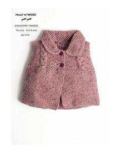 Free Knitting Pattern for a Mid Season Top for Baby and Girls