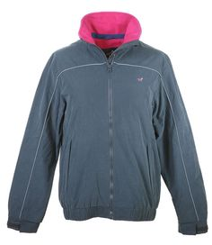 Lansdown Country Clothing Hedley Blouson Jacket - Slate Made from a showerproof peach finished polyester fabric this colourful blouson From Lansdown