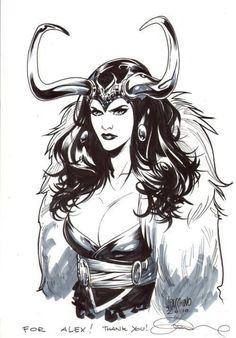 Lady Loki (Loki Laufeyson) | art by Emanuela Lupacchino