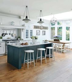 [Kitchen] : Magnificent Kitchen Stunning Kitchen Dining Room Decoration Using Round White Bar Kitchen Chair Including Dark Green Free Standing Kitchen Island And White Marble Island