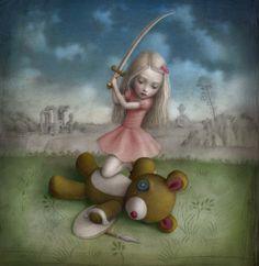 Nicoletta Ceccoli - Illustration - Game Over Mark Ryden, Arte Lowbrow, Art Fantaisiste, Arte Horror, Italian Artist, Objet D'art, Whimsical Art, Surreal Art, Les Oeuvres