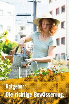 Egal ob Garten oder Balkon. Platz für Kräuter, Beeren und Blumen ist immer. Auf die richtige Bewässerung kommt es allerdings an. #Blumen #Kräuter #Kräutergarten #Urbangardening #DIY #pflanzen #Garten #Inspiration #Gartenideen #Balkonideen #Terrasse Panama Hat, Urban Gardening, Inspiration, Rain Water Collector, Garden Hose, Plants, Don't Care, Berries, Biblical Inspiration