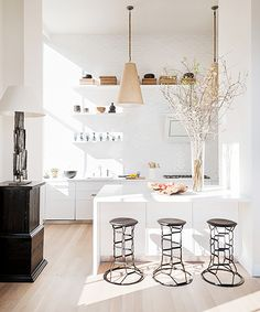 the modern kitchen.